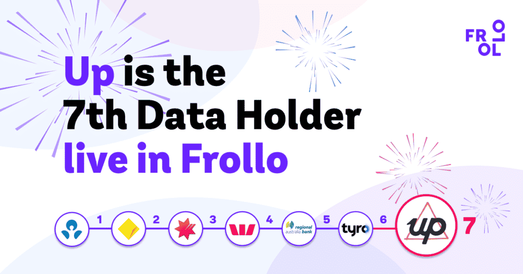 Up launches as a Data Holder on the Frollo Open Banking platform